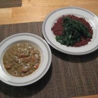 Curried Coconut Lentil Soup Kale Red Rice